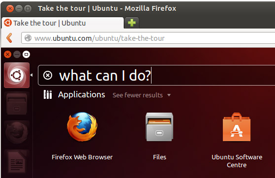 Take the tour Ubuntu