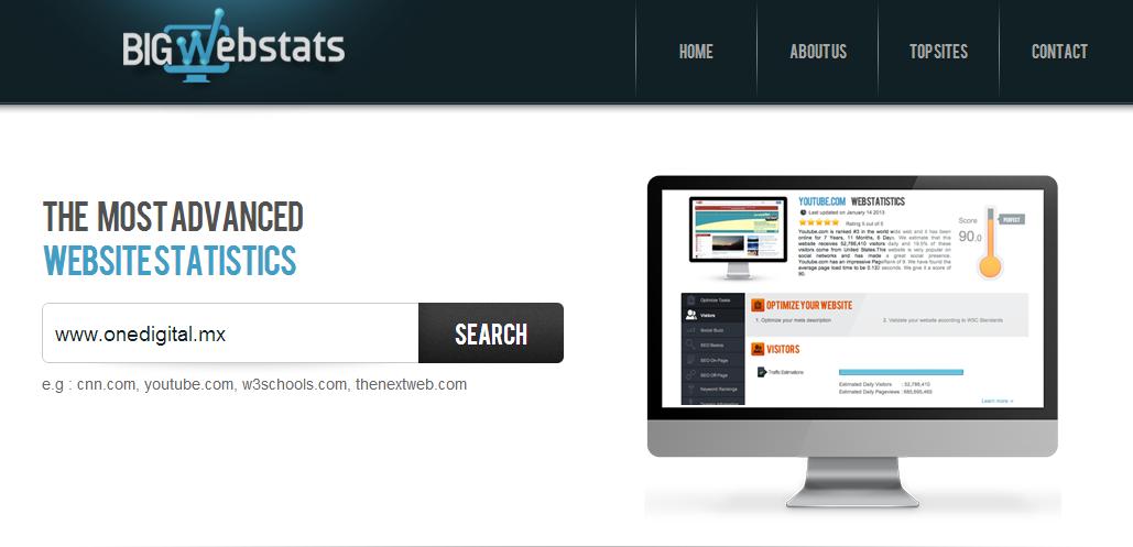 BigWebStats   Discover In Depth Statistics for any Website